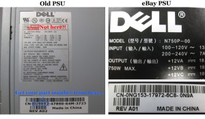 Dell Power Supply Labels